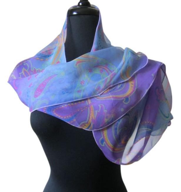 Item - Purple Blue Pink Yellow Green Collection Neck Scarf/Wrap