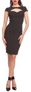 Hell Bunny Pin Up Polka Dot Pencil Wiggle Dress