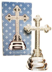 Jeweled Silver Plated Standing Cross by Bealls, Palais Royale & Stage [ MissSundayBest Closet ]