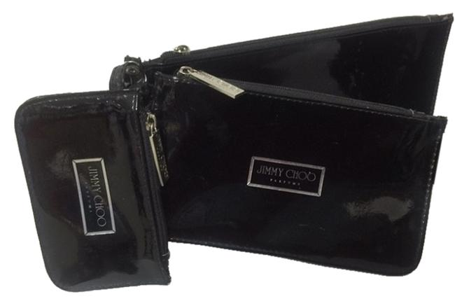 Item - Black (3 )different Sizes Wallets Or Any Way You Want To Use It As All 3 Have Zippers They Show Signs Cosmetic Bag