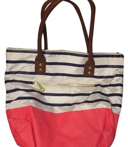 Old Navy Satchel in White, Blue, Pink