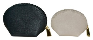 Furla FURLA Set of 2 Mini Dome Shaped Saffiano Leather Cosmetic Cases