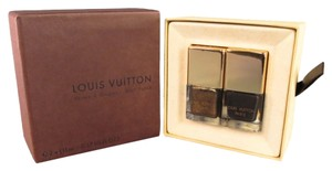 Louis Vuitton LOUIS VUITTON Gold & Brown Nail Polish Set