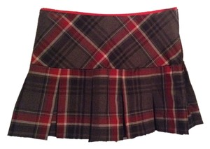 Heart Moon Star Mini Skirt Scotch red and black