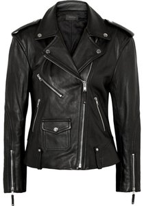 Theory Boyfriend Biker Chic Iro Acne black Leather Jacket