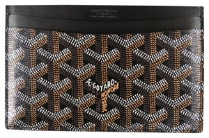 Goyard GOYARD Brand New Brown Vector Leather Rectangle Card Holder Wallet