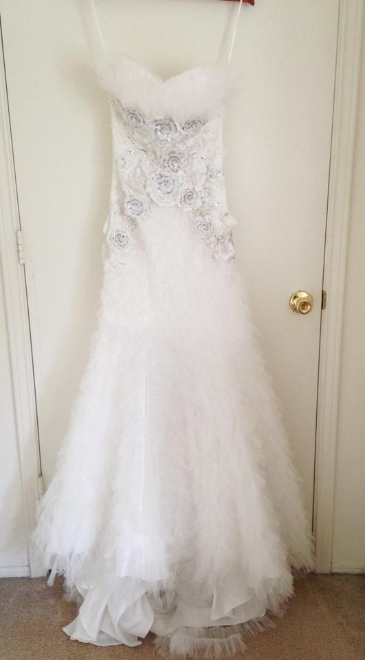 PromGirl White Tulle At-ac11538 Formal Wedding Dress Size 4 (S ...