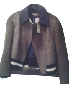 Stella McCartney Couture brown with white stripe and black colar Jacket