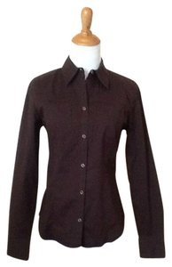 Ann Taylor LOFT Button Down Shirt Brown