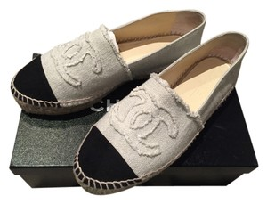 Chanel Canvas Cc Coco Flat Ivory Flats