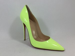Christian Louboutin Sokate So Kate Neon Yellow Pumps