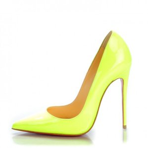 Christian Louboutin Sokate So Kate Nude So Kate Neon Yellow Pumps