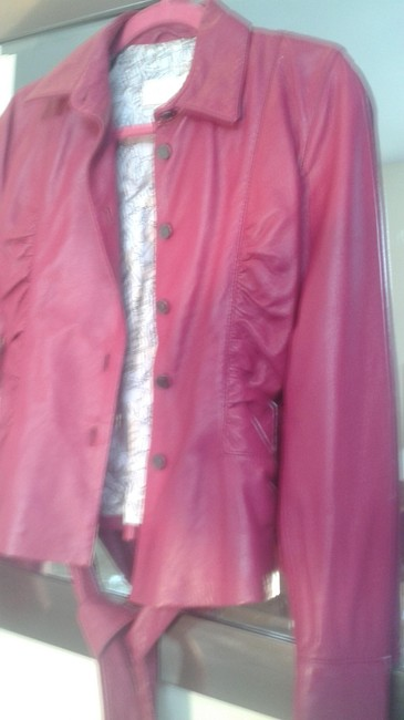 Valentino fushia Leather Jacket