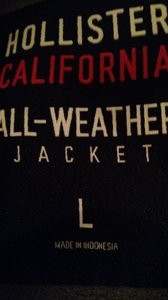 Hollister Calfornia Black Jacket
