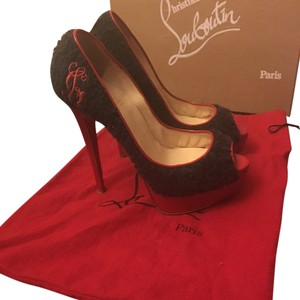 Christian Louboutin Black/red Platforms