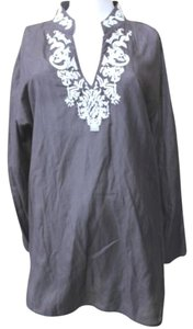 Chico's Cotton Silk Blouse 2 Medium Tunic