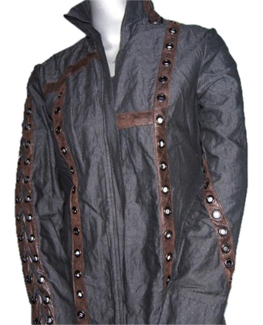 Preload https://item5.tradesy.com/images/salvage-brand-women-s-jacket-w-grommets-and-leather-detail-m-black-button-down-top-size-8-m-10177414-0-1.jpg?width=400&height=650