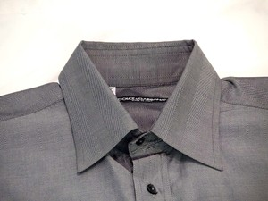 Dolce&Gabbana Men Grey Stripe Dress Shirt