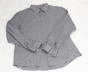 John Varvatos Men Grey Cotton Dress Shirt