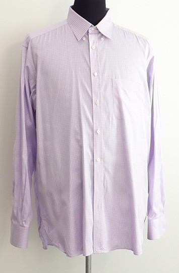 Thomas Pink Men Purple Dress Shirt Grooms Groomsmen On