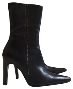 Lambertson Truex Leather Classic Black with white stitching Boots