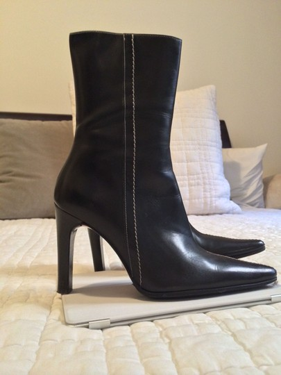 Lambertson Truex Leather Classic Vintage Never Worn Black with white stitching Boots