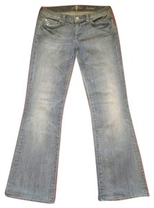 7 For All Mankind Designer Boot Cut Jeans-Distressed