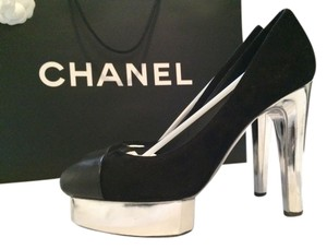 Chanel Holiday New Year's Eve Luxury Timeless Black with silver accents Pumps