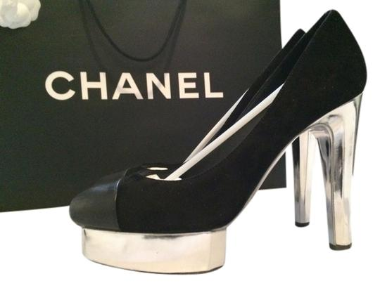 Chanel Holiday New Year's Eve Luxury Black with silver accents Pumps