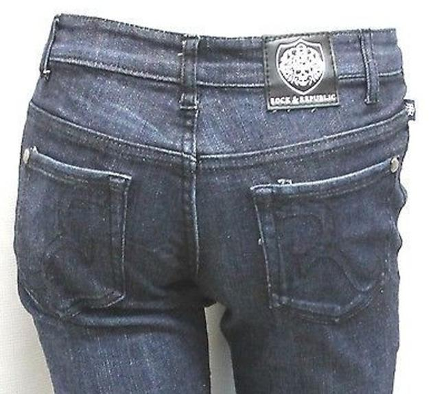 Rock & Republic Cotton Denim Straight Leg Jeans-Medium Wash Image 4