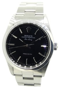 Rolex Rolex Men's Oyster Perpetual Airking 14000M Black Dial All Originial Stainless Steel Watch