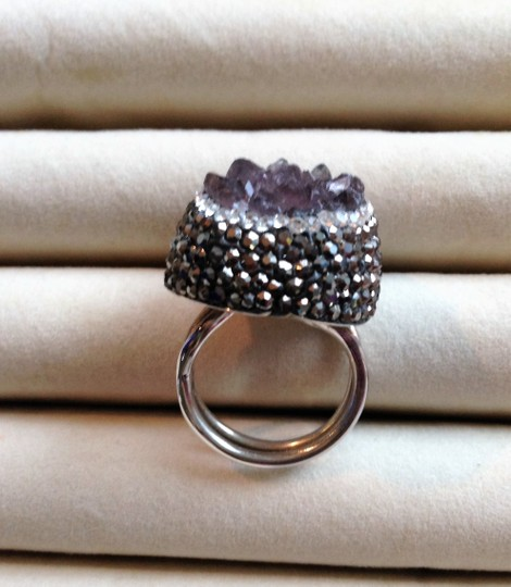 Other Amethyst Drusy ring Image 8