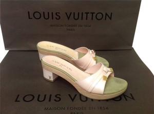Louis Vuitton Sandal Pink Marshmallow Vernis Patent Patent Leather Heels Sandals Flats Gold Bow Choo Cl Jimmy Manolo Perfume Tatoo Marshmallow Pink Mules
