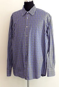 Hugo Boss Men Blue Checker Dress Shirt