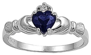 BNWOT ~ Claddagh Ring, Sapphire, Size 7