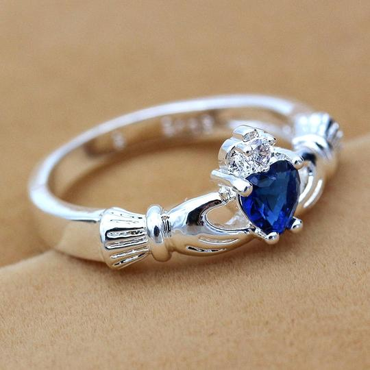 Other BNWOT ~ Claddagh Ring, Sapphire, Size 8 Image 1