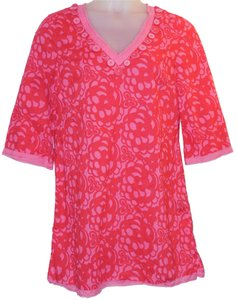 Boden short dress Pink Floral Cotton on Tradesy