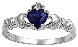 BNWOT ~ Claddagh Ring, Sapphire, Size 9