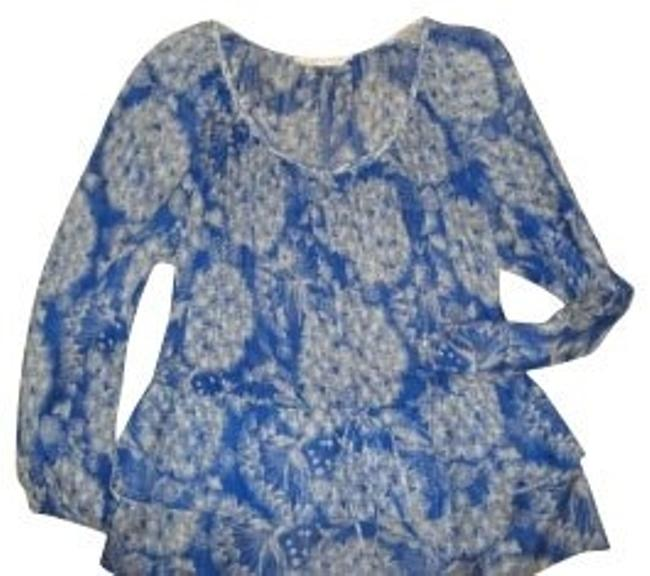 Rebecca Taylor Top Blue and white