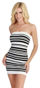 Nikibiki short dress Black and White Striped High Quality Strapless on Tradesy