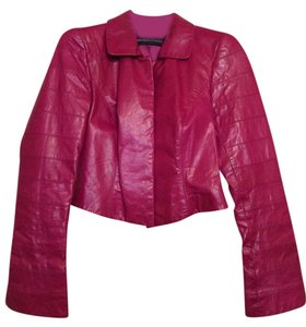 Dana Buchman Leather Rasberry Leather Jacket