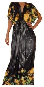 Black & Gold Maxi Dress by