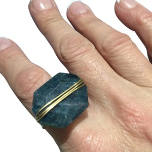 Other Teal-Blue Semi-Precious Wire Ring