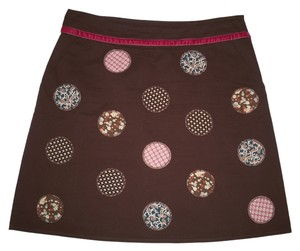 Boden Cotton Patchwork Polka Dot Skirt