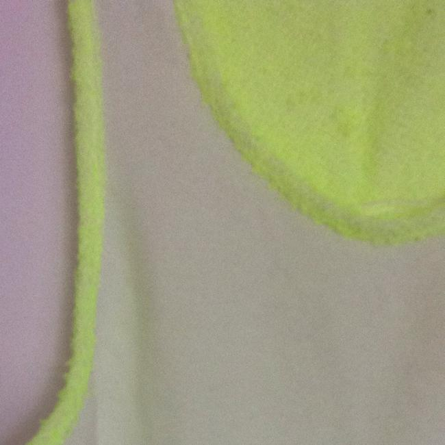 SOLOW Top White Neon Green
