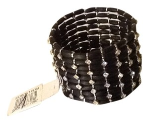 Other Cocktail black & rhinestone bracelet
