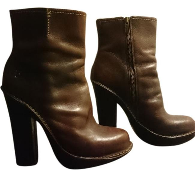 Item - Dark Brown Leather Victoria Ankle Boots/Booties Size US 7.5 Regular (M, B)