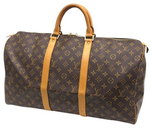 Louis Vuitton Keepall 50 Travel Keepall Monogram 50 Keepall Keepall Handbag Keepall Travel Handbag Brown Travel Bag