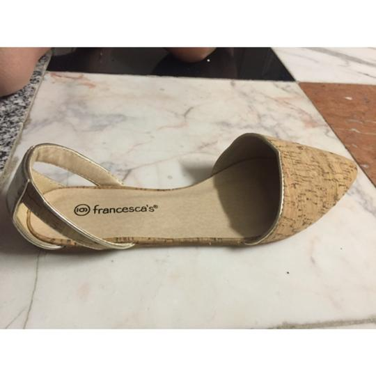 Francesca's Summer Spring Business Casual Gold and tan Flats