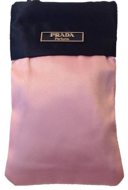 Item - Pouch Pink and Black Satin Clutch